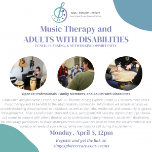 Music Therapy and Adults with Disabilities Networking